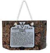 Stonewall Jackson House Weekender Tote Bag by Todd Hostetter