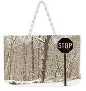 Stop Snowing Weekender Tote Bag
