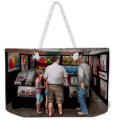 Store Front - Artist - Puppy Love  Weekender Tote Bag by Mike Savad