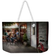 Storefront - Frenchtown Nj - At A Quaint Bistro  Weekender Tote Bag by Mike Savad