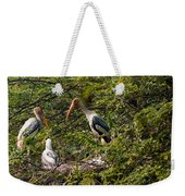 Storks Around A Nest Weekender Tote Bag