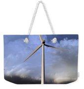 Storm Clouds And Wind Turbine Weekender Tote Bag