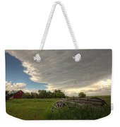 Storm Clouds Gather Over An Abandoned Weekender Tote Bag