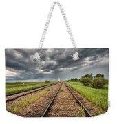 Storm Clouds Over Grain Elevator Weekender Tote Bag