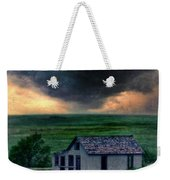 Storm Over Abandoned House Weekender Tote Bag by Jill Battaglia
