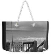 Storm-rocked Beach Chairs Weekender Tote Bag