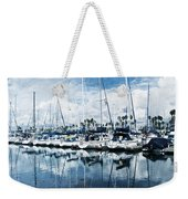 Stormy Blues Weekender Tote Bag