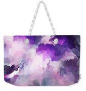 Stormy Purple Weekender Tote Bag