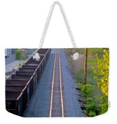 Straight Line Weekender Tote Bag
