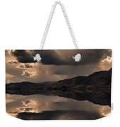 Strange Clouds Reflected Weekender Tote Bag