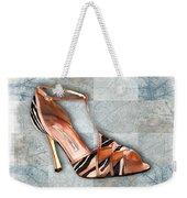 Strappy Striped Sandal Weekender Tote Bag