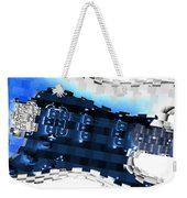 Abstract Guitar In Blue Weekender Tote Bag