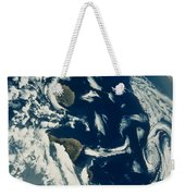 Stratus Cloud Formations Over Canary Weekender Tote Bag by Nasa