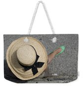 Straw Hat And Green Shoes Weekender Tote Bag