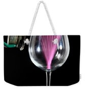 Straw In A Glass At Resonance Weekender Tote Bag