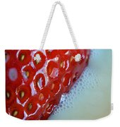 Strawberries And Milk Weekender Tote Bag