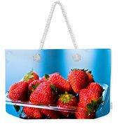 Strawberries In A Plastic Sale Box  Weekender Tote Bag