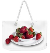 Strawberries In A White Bowl No.0029v1 Weekender Tote Bag