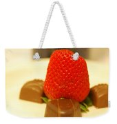 Strawberry And Chocolate Weekender Tote Bag