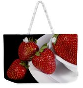 Strawberry Arrangement With A White Bowl No.0036 Weekender Tote Bag