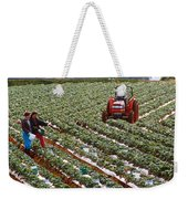 Strawberry Farm Weekender Tote Bag