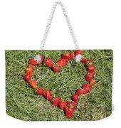 Strawberry Heart Weekender Tote Bag