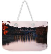 Strawberry Mansion Bridge At Dusk Weekender Tote Bag