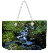 Stream Flowing Through A Forest Weekender Tote Bag