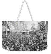 Street Car Strike, 1886 Weekender Tote Bag