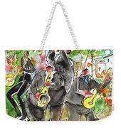 Street Musicians In Cyprus Weekender Tote Bag