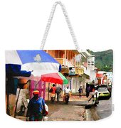 Street Scene In Rosea Dominica Filtered Weekender Tote Bag