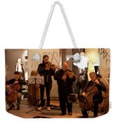 Street String Quartet Weekender Tote Bag