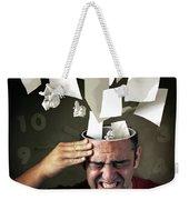 Stressed Weekender Tote Bag by Carlos Caetano