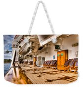 Strolling The Deck Of The Oosterdam Weekender Tote Bag