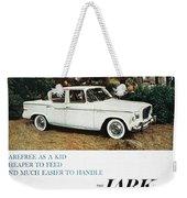 Studebaker Ad, 1959 Weekender Tote Bag