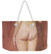 Study Of A Nude Weekender Tote Bag by Murray Bladon