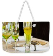 Stylish Dining Table Arrangement Weekender Tote Bag