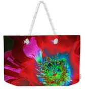 Stylized Flower Center Weekender Tote Bag
