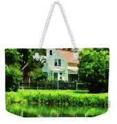 Suburban House With Reflection Weekender Tote Bag