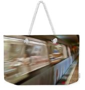 Subway Blur Weekender Tote Bag