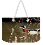 Sucarnoochee River - Suspicious Wood Duck Weekender Tote Bag