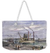 Suez Canal Construction Weekender Tote Bag