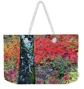 Sumac Slope And Lichen Covered Tree Weekender Tote Bag