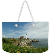 Summer At Portland Head Light Weekender Tote Bag
