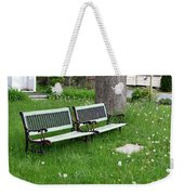 Summer Bench And Dandelions Weekender Tote Bag