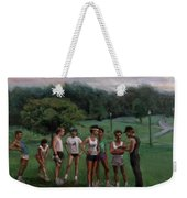 Summer Evening Meet Weekender Tote Bag