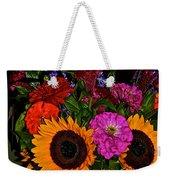 Summer Flower Bouquet Weekender Tote Bag