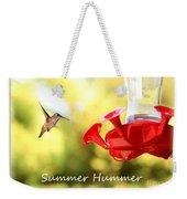 Summer Hummer Poster Weekender Tote Bag