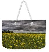 Summer Storm Clouds Over A Canola Field Weekender Tote Bag