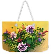 Summer To Autumn Bouquet Weekender Tote Bag